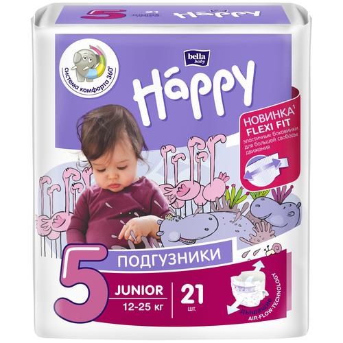 Bella Baby happy подгузники Junior 5 (12-25 кг), 21 шт.