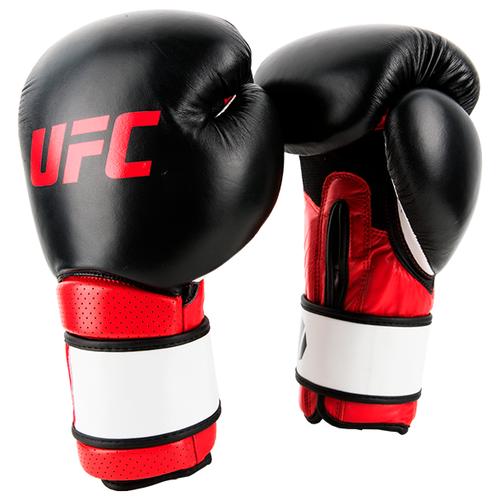 Перчатки UFC для работы на снарядах MMA 14 унций (Черно-красные)