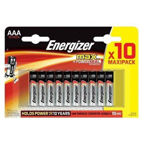 Фото - Батарейка Energizer Max AAA/LR03, 10 шт. батарейка energizer max aaa lr03 алкалиновая 4bl