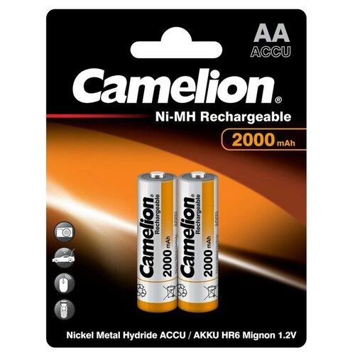 Фото - Аккумулятор бытовой Camelion R6 AA BL2 NI-MH 2000mAh 2 шт аккумулятор ni mh 1000 ма·ч camelion nh aaa1100 2 шт