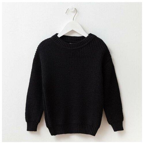Купить Джемпер Minaku размер 104, черный, Свитеры и кардиганы