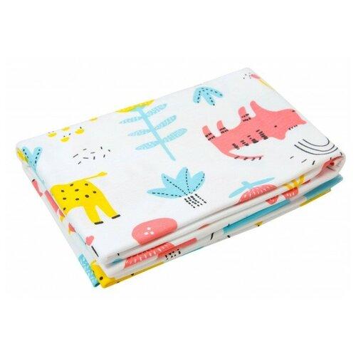 Купить Многоразовые пеленки Amarobaby Soft Hugs 120х90 зоопарк 1 шт., Пеленки, клеенки