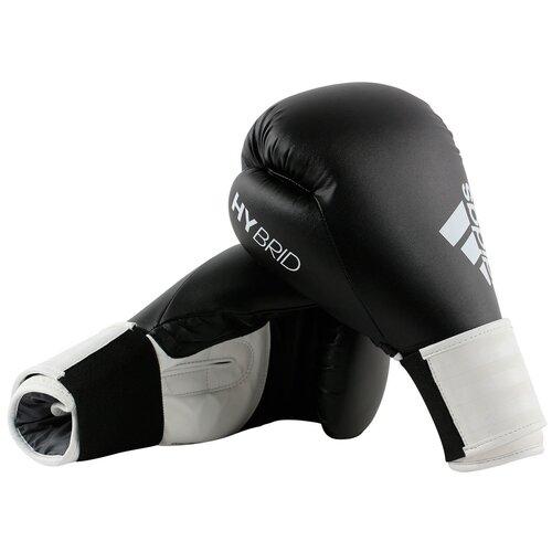 Боксерские перчатки adidas Hybrid 100 черный/белый 12 oz