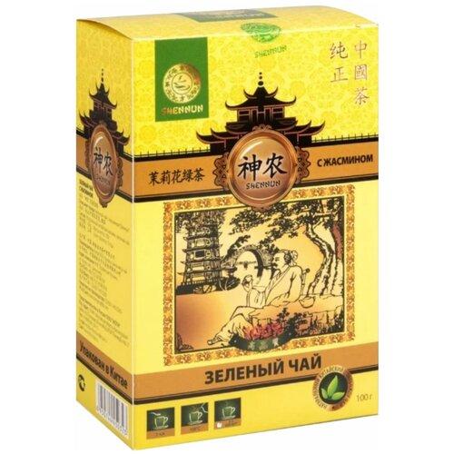 Чай зеленый Shennun с жасмином, 100 г