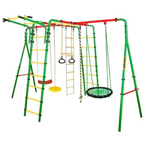 Спортивно-игровой комплекс Kampfer Wunder гнездо среднее, зеленый/желтый