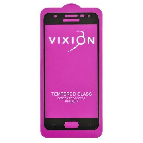 Защитное стекло 6D для Samsung G570F Galaxy J5 Prime (черный) (VIXION) чехол для samsung galaxy j5 prime sm g570f ds gecko flip case серебристый