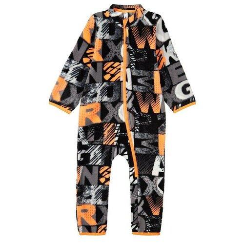 Комбинезон playToday, размер 74, черный/серый/темно-серый/белый/оранжевый брюки playtoday classic girls 394424 размер 122 темно серый