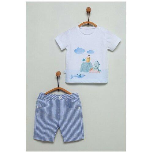 Фото - Комплект для мальчика Caramell серия Ejderha футболка и шорты индиго, размер 62-68 шорты burberry 8010135 размер 6m 68 pale mint