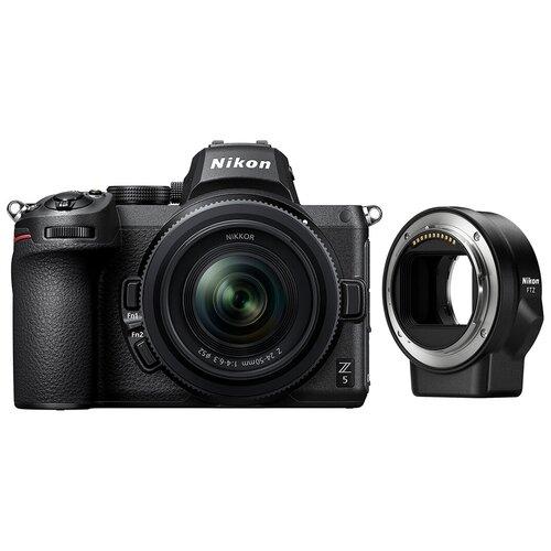 Фото - Фотоаппарат Nikon Z5 Kit черный Z 24-50mm f/4-6.3 + переходник FTZ фотоаппарат nikon z5 kit 24 50 f 4 6 3 c адаптером ftz