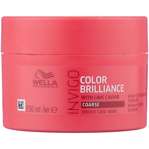 Wella Professionals INVIGO COLOR BRILLIANCE Маска-уход для защиты цвета жестких волос, 150 мл