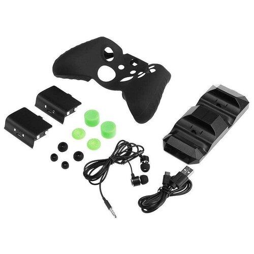 Dobe Комплект аксессуаров Super Kit для консоли Xbox One/One X/One S (TYX-1752) черный 2