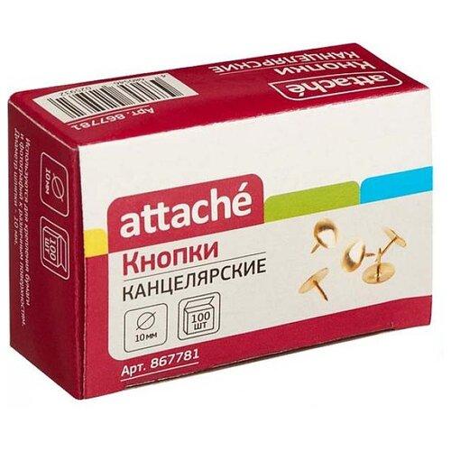 Купить Attache Кнопки (867780-81) 10 мм (100 шт.) золотистый, Скрепки, кнопки