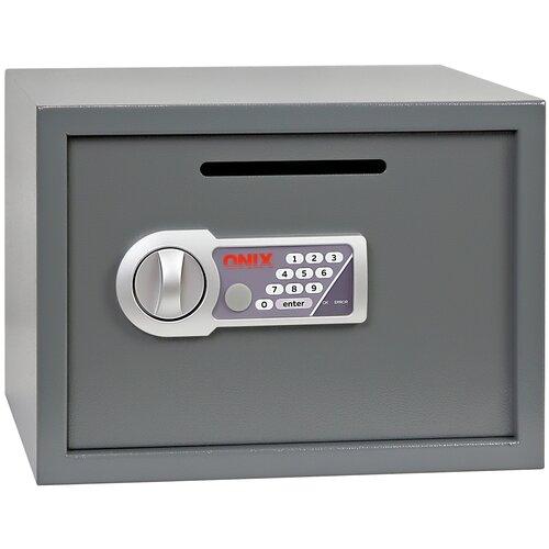 Сейф депозитный ONIX LS-25D, серый