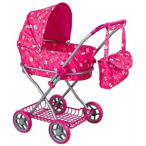 Купить Коляска-люлька Buggy Boom Mixy (8019) розовый/мишка, Коляски для кукол