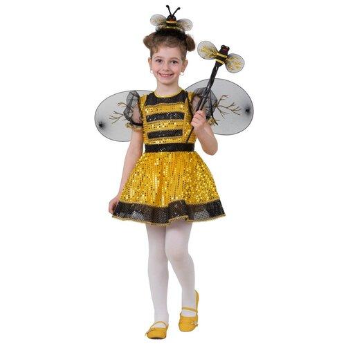 Купить Костюм блестящей пчёлки, размер 134 см., Батик, Карнавальные костюмы