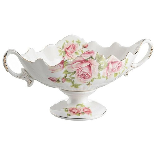 Фото - Lefard Фруктовница Жаклин 28 х 13 см белый/розовый lefard фруктовница корейская роза 33 5 х 19 х 21 см белый