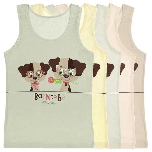 Купить Майка для девочек 4971BO, Цвет: Микс, Размер: 10/11, 5шт. в упаковке, Donella, Белье и купальники