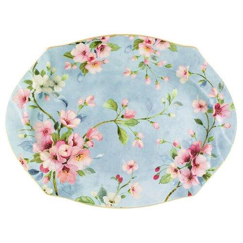 Elan gallery Блюдо Яблоневый цвет на голубом 30 x 22 см голубой недорого