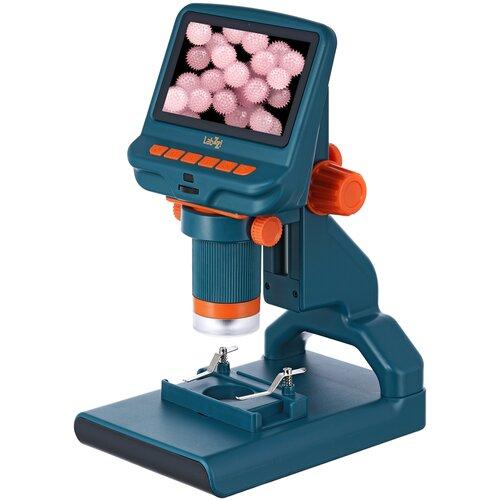 Микроскоп LEVENHUK LabZZ DM200 LCD синий