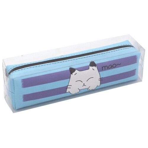 Купить ArtSpace Пенал мягкий Meow голубой, Пеналы