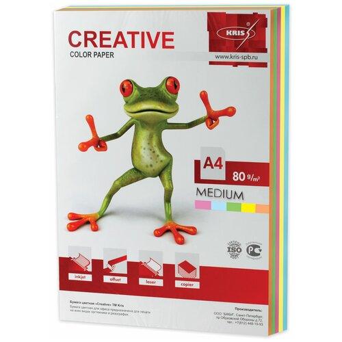 Фото - Бумага Creative A4 Color Medium 80 г/м² 250 лист., голубой/желтый/зеленый/оранжевый/розовый бумага creative a4 студенческая 80 г м² 100 лист белый