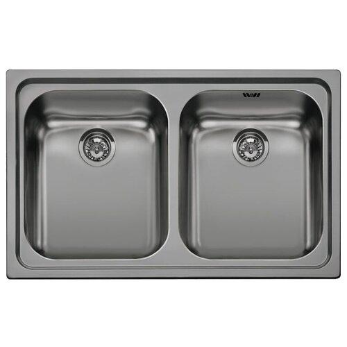 Врезная кухонная мойка 79 см Smeg SP792 состаренное серебро врезная кухонная мойка 79 см smeg sp791s 2 нержавеющая сталь матовая