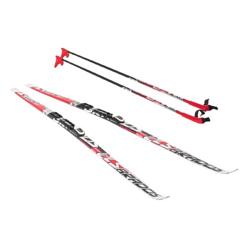 Фото - Беговые лыжи STC NNN Rottefella Step Brados LS с креплениями, с палками red 150 см беговые лыжи stc step kid combi черный белый желтый 110 см