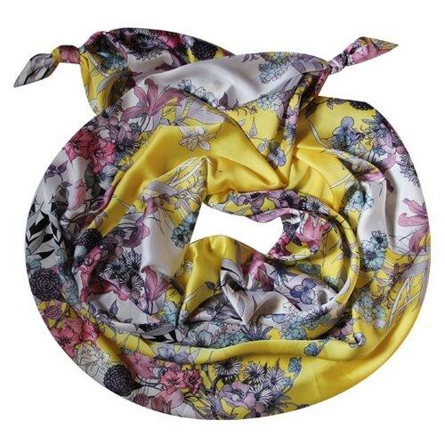 Двойной шарф-долька Оланж Ассорти с узелками серия Апрель dolka-шелк-z-162-1