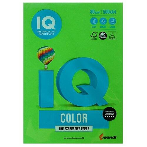 Фото - Бумага цветная А4 500л IQ COLOR, 80г/м2, зеленый, MA42 1520943 бумага цветная а4 500л iq color 80г м2 желтый zg34 1520958