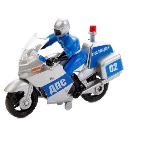 Мотоцикл Технопарк с фигуркой - Полиция,10 см