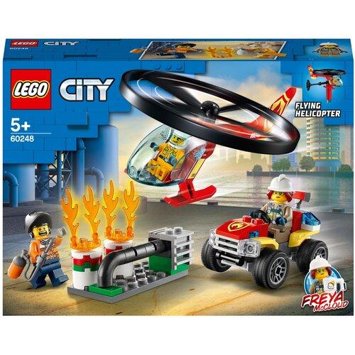 Купить Конструктор LEGO City 60248 Пожарный спасательный вертолёт, Конструкторы