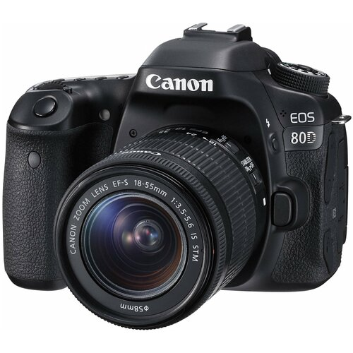 Фотоаппарат Canon EOS 80D Kit черный EF-S 18-55mm f/3.5-5.6 IS STM фотоаппарат canon eos m50 kit ef m 15 45mm f 3 5 6 3 is stm white 2681c012