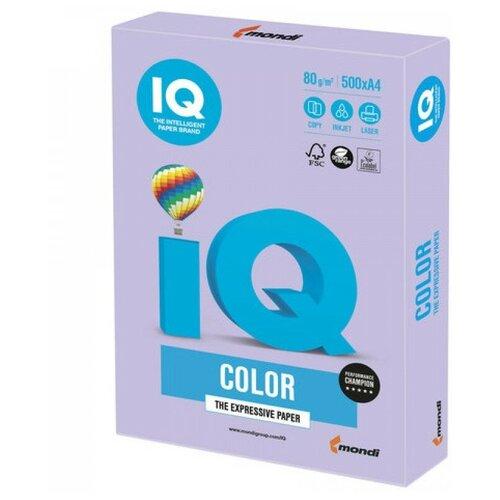 Фото - Бумага IQ Color A4 80 г/м² 500 лист., бледно-лиловый LA12 бумага iq color a4 80 г м² 250 лист 5 цв х 50 л тренд rb03