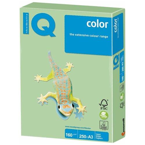 Фото - Бумага IQ Color А3 160 г/м2 250 лист., зеленая пастель MG28 бумага iq color а4 color 120 г м2 250 лист оранжевый or43 1 шт