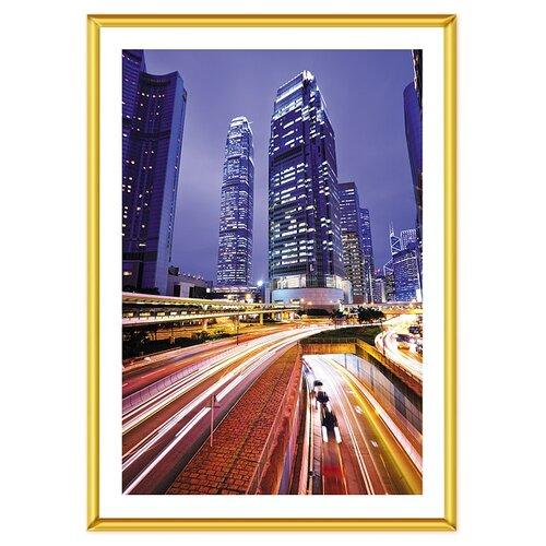 фотоальбомы и рамки veld co фоторамка poster 13х18 см Фоторамка Veld Co PR foil 9118, 40х60 см золотистый