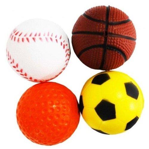 [289.0316] уют мяч спорт-бейсбол,баскетбол,футбол,гольф 4см (туба-25шт) (иу12), 289.0316 (10 шт)