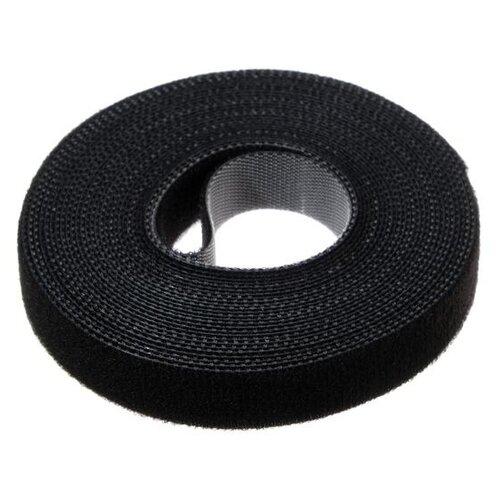 Лента-липучка для стяжки проводов 1 шт 500*15 см черная 5161558