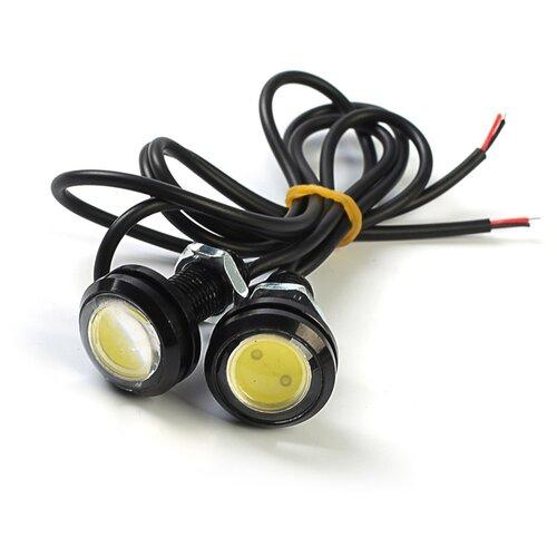 Фото - Дневные ходовые огни KS, KS-Н004, линза, металл, провода, 22х33х22 мм, 2 шт 3328005 пусковые провода ks ks 100a 50 2 5m