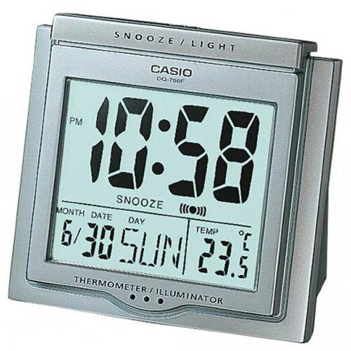 Часы с термометром CASIO DQ-750, серебристый