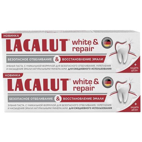 Купить Зубная паста Lacalut White & Repair, 75 мл, 2 шт.