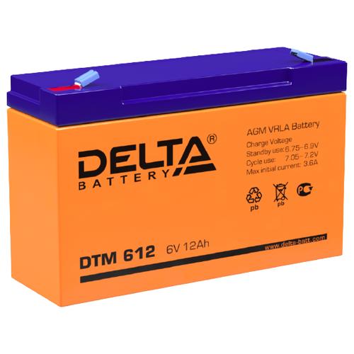 Аккумуляторная батарея DELTA Battery DTM 612 11.5 А·ч аккумуляторная батарея delta battery dtm 1233 i 33 а·ч