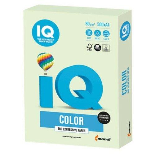 Фото - Бумага IQ Color A4 80 г/м² 500 лист., светло-зеленый GN27 бумага iq premium a4 80 г м² 500 лист