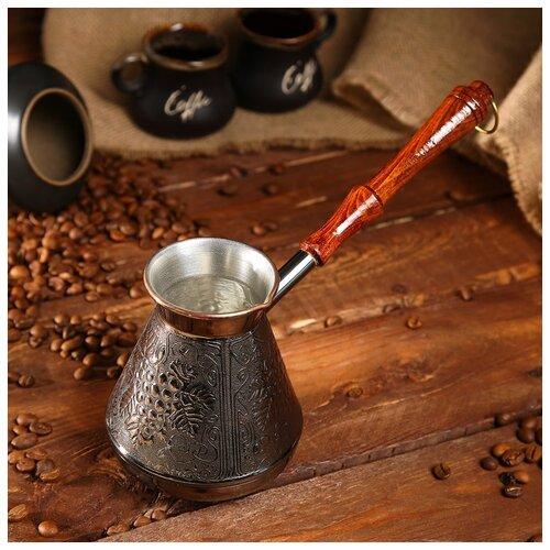 Турка для кофе медная «Виноград», 0.5 л 1069148 по цене 1 105