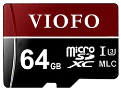 Карта памяти VIOFO 3D MLC NAND Professional High Endurance microSDXC UHS-3 64GB + SD adapter