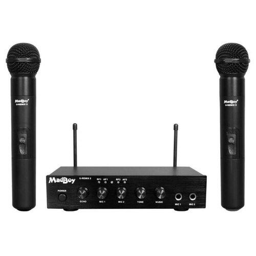 MadBoy U-REMIX 2 система для онлайн караоке с двумя беспроводными микрофонами