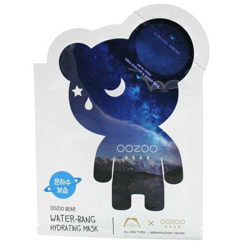 the oozoo маска с ресвератролом для интенсивного лифтинга face in shot mask age cure 1 шт 2 8 мл 27 мл THE OOZOO тканевая маска Bear Water-Bang Hydrating Mask+Ampoule для глубокого увлажнения кожи, 23 мл