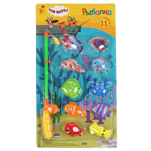 Рыбалка Играем вместе Три кота, на картоне, в коробке (Q333-H19003-R) игрушки для ванны играем вместе игра рыбалка три кота k095 h19006 r