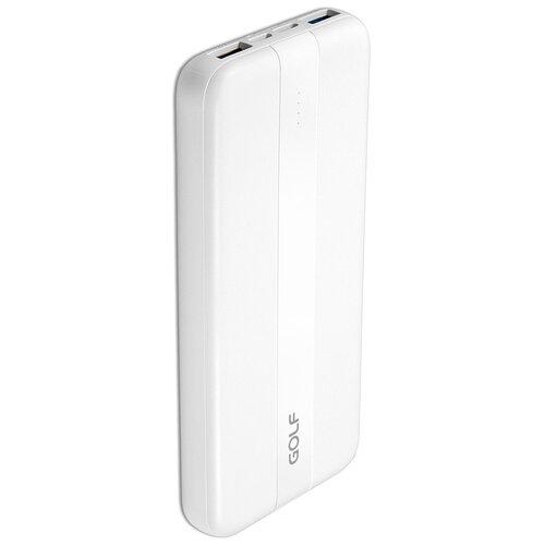 Внешний аккумулятор GOLF G92PD 10000 mAh 2*USB + Type-C Power Delivery + Quick Charge 18W белый