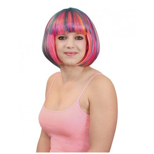 Разноцветный парик-каре