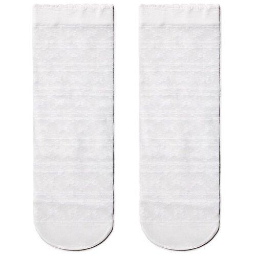 Капроновые носки Conte Elegant 19С-112СП, размер 23-25, bianco